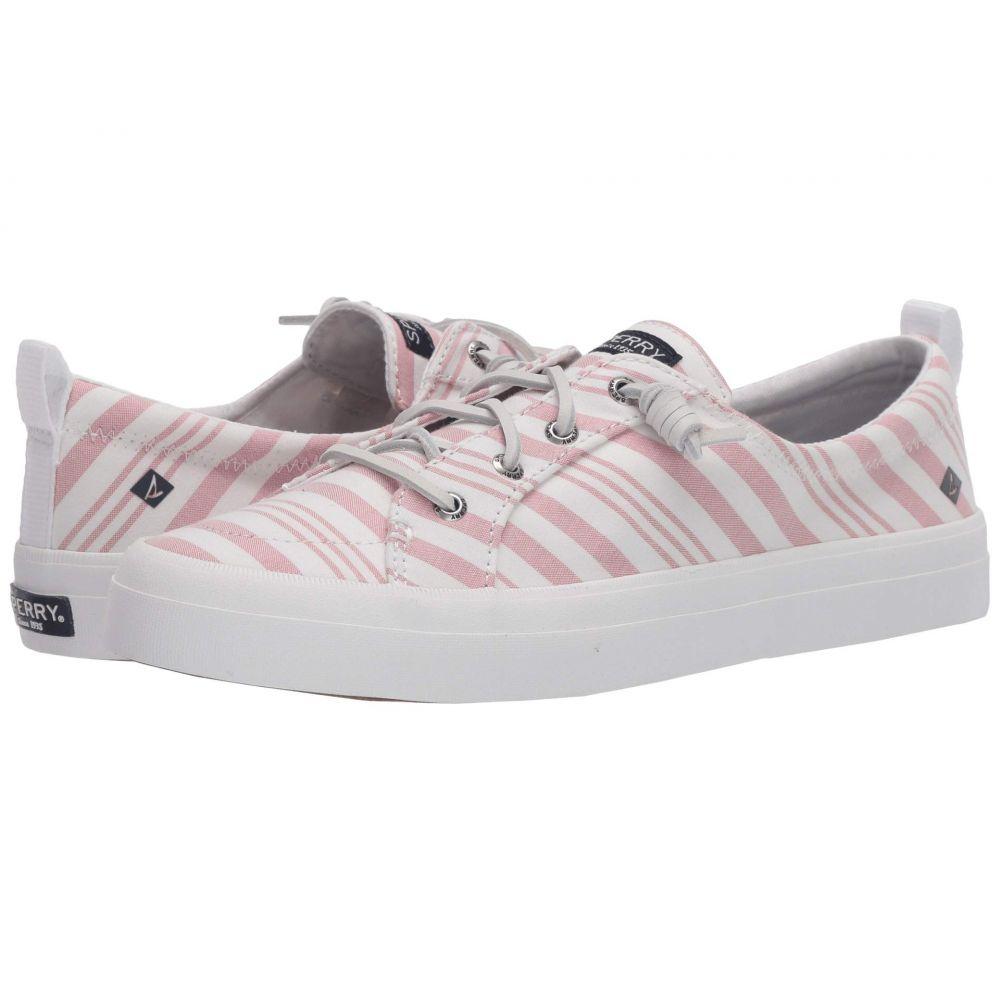 スペリー Sperry レディース スニーカー シューズ・靴【Crest Vibe Beach Stripe】Coral/White