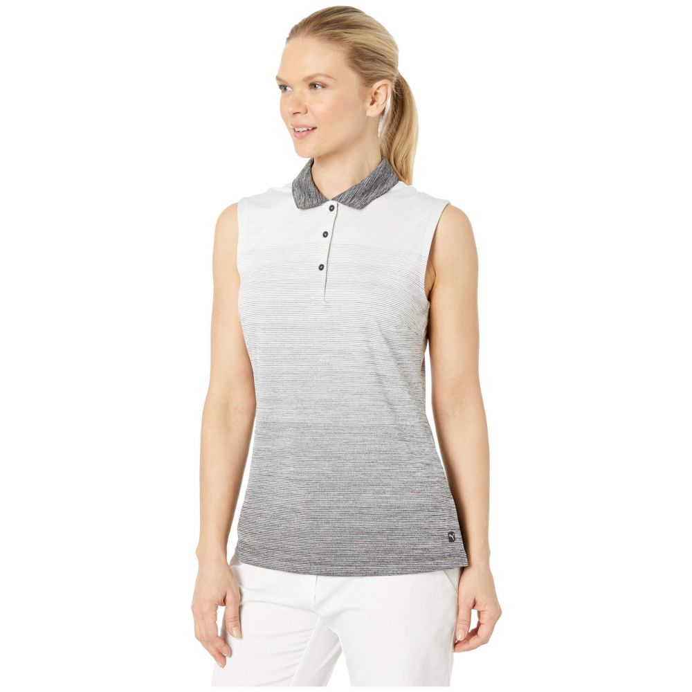 プーマ PUMA Golf レディース ノースリーブ ポロシャツ トップス Ombre Sleeveless Polo PUMA Black35ARLq4j