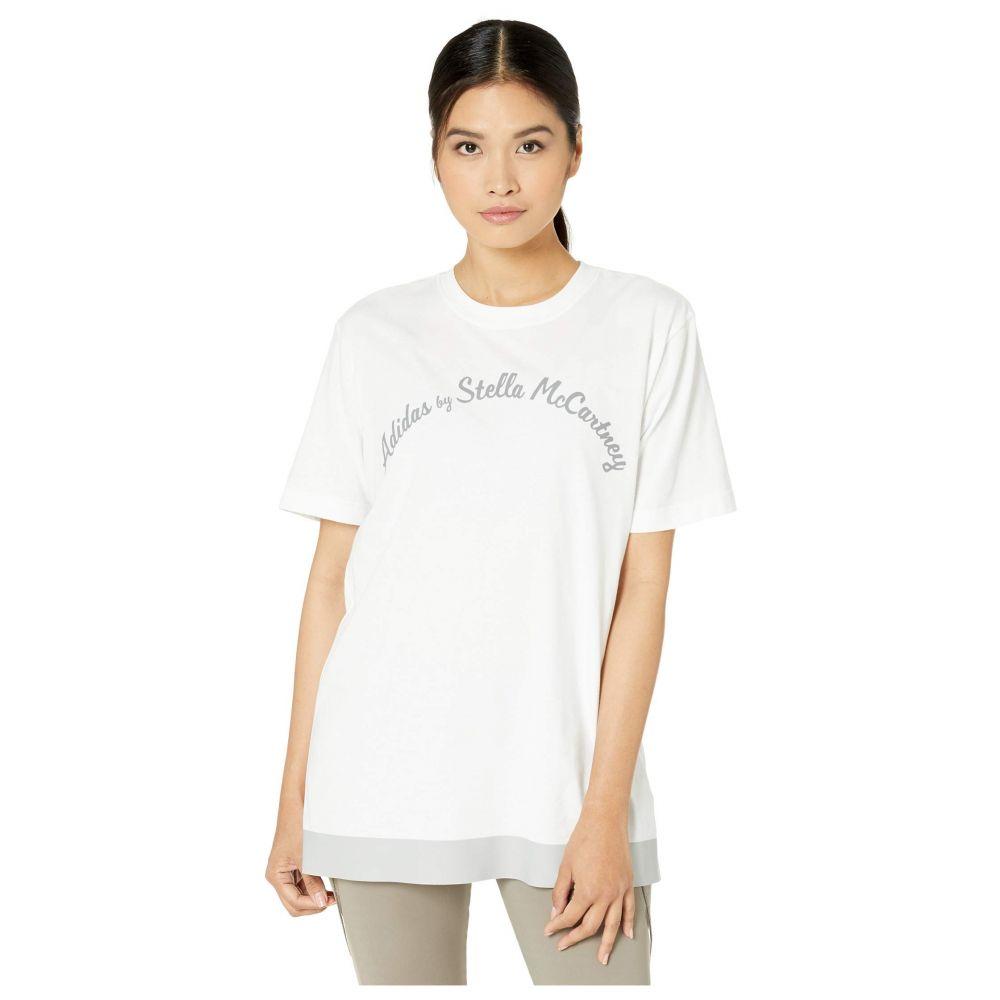 アディダス adidas by Stella McCartney レディース Tシャツ ロゴTシャツ トップス【Script Logo Tee FK9695】White