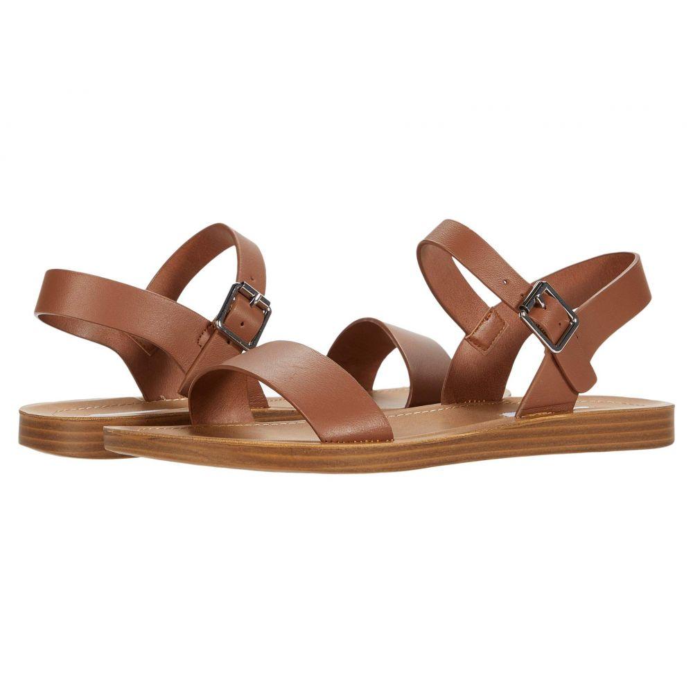スティーブ マデン Steve Madden レディース サンダル・ミュール フラット シューズ・靴【League Flat Sandal】Cognac Leather