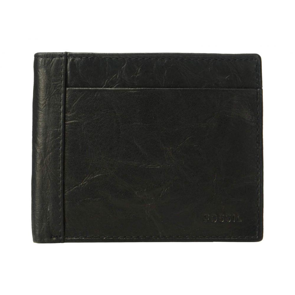 フォッシル Fossil メンズ 財布 二つ折り【Neel Large Coin Pocket Bifold】Black