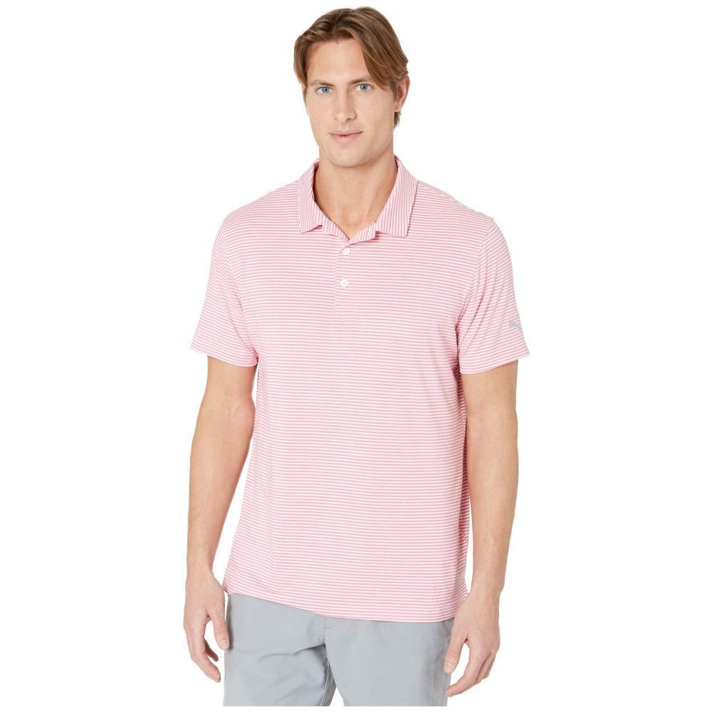 プーマ PUMA Golf メンズ ポロシャツ トップス【Caddie Stripe Polo】Rapture Rose Heather