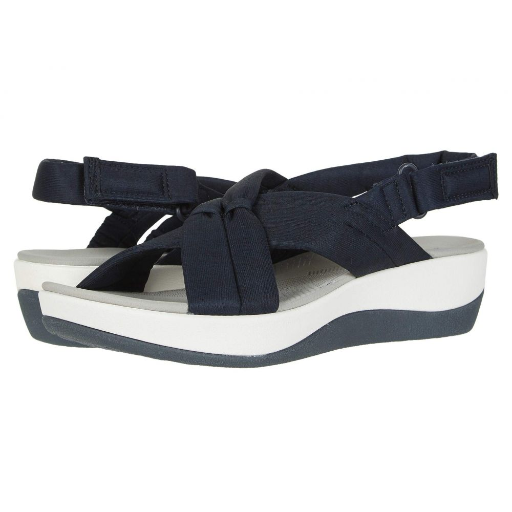 クラークス Clarks レディース サンダル・ミュール シューズ・靴【Arla Belle】Navy Textile