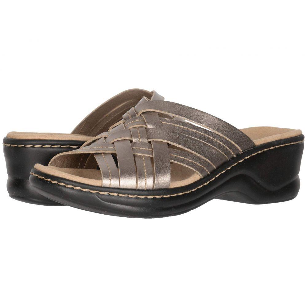 クラークス Clarks レディース サンダル・ミュール シューズ・靴【Lexi Selina】Pewter Metallic Leather
