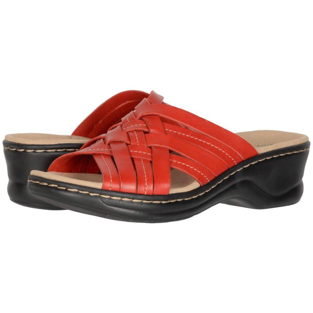 クラークス Clarks レディース サンダル・ミュール シューズ・靴【Lexi Selina】Red Leather