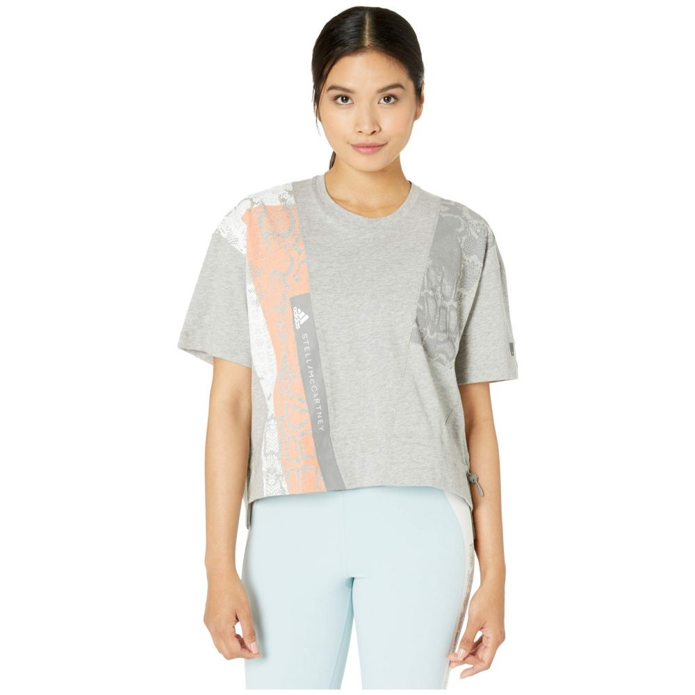 アディダス adidas by Stella McCartney レディース Tシャツ トップス【Digi Print Graphic Tee FK9690】Medium Grey Heather
