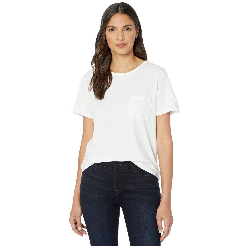 リラピー Lilla P レディース Tシャツ ポケット トップス【Short Sleeve Pocket Tee in Pima Jersey】White