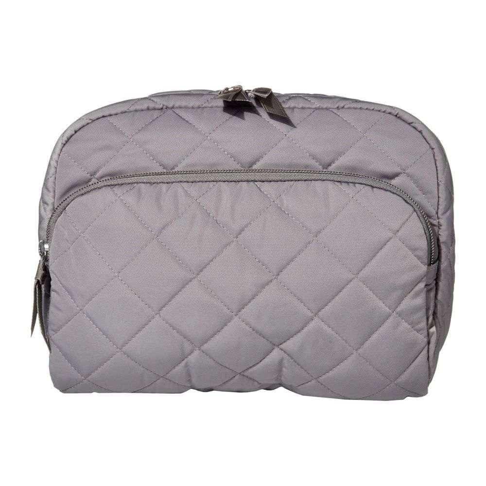 ヴェラ ブラッドリー Vera Bradley レディース ポーチ 化粧ポーチ【Iconic Performance Twill Lay Flat Cosmetic Bag】Tranquil Gray