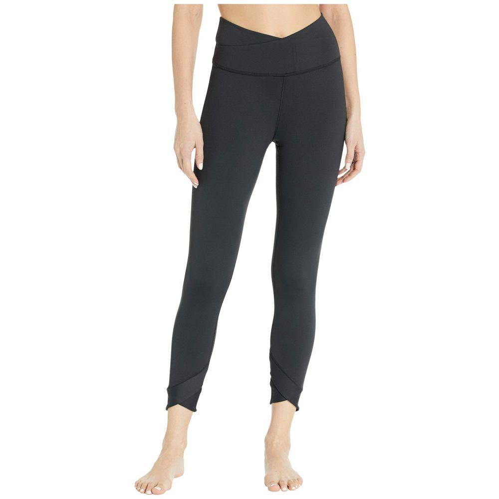 ナイキ Nike レディース ヨガ・ピラティス スパッツ・レギンス ボトムス・パンツ【Yoga Wrap 7/8 Tights】Black/Dark Smoke Grey
