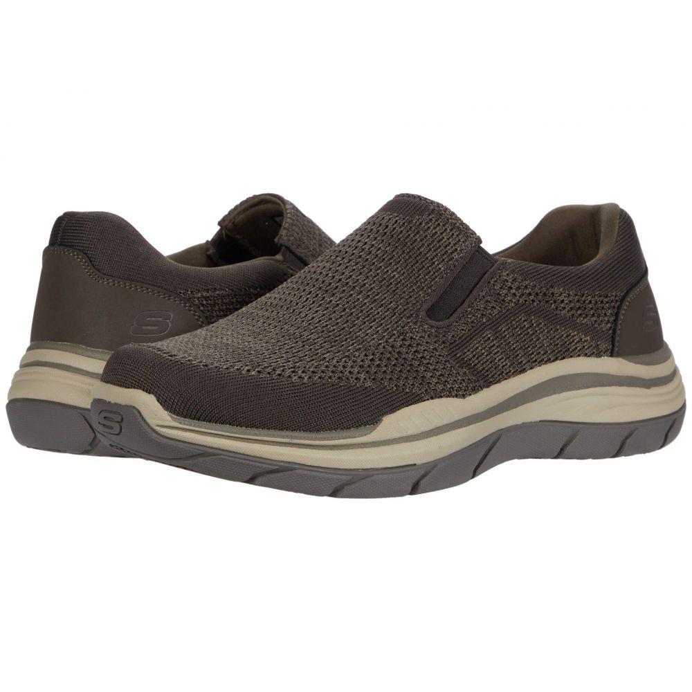 スケッチャーズ SKECHERS メンズ スニーカー シューズ・靴【Relaxed Fit Expected 2.0 - Arago】Olive/Brown