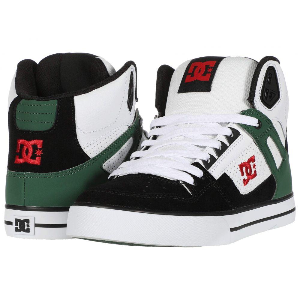 ディーシー DC メンズ シューズ・靴 【Pure High-Top WC】White/Green/Black