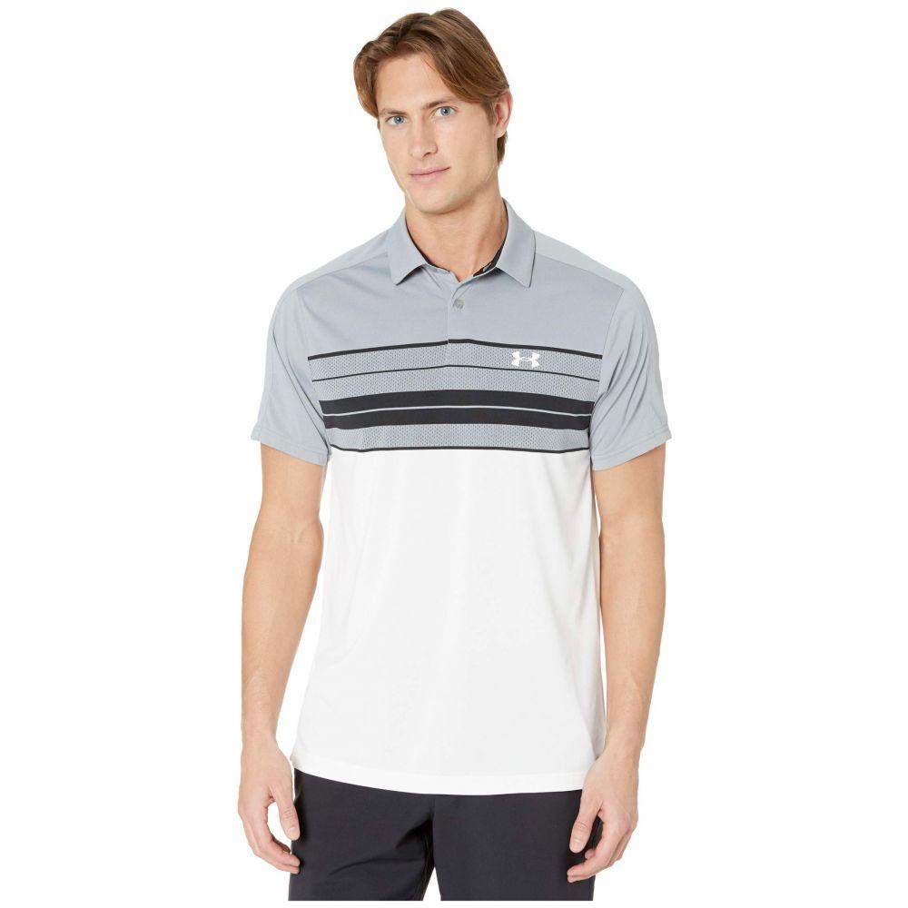 アンダーアーマー Under Armour Golf メンズ ポロシャツ トップス【Vanish Chest Stripe Polo】Steel/Black/White