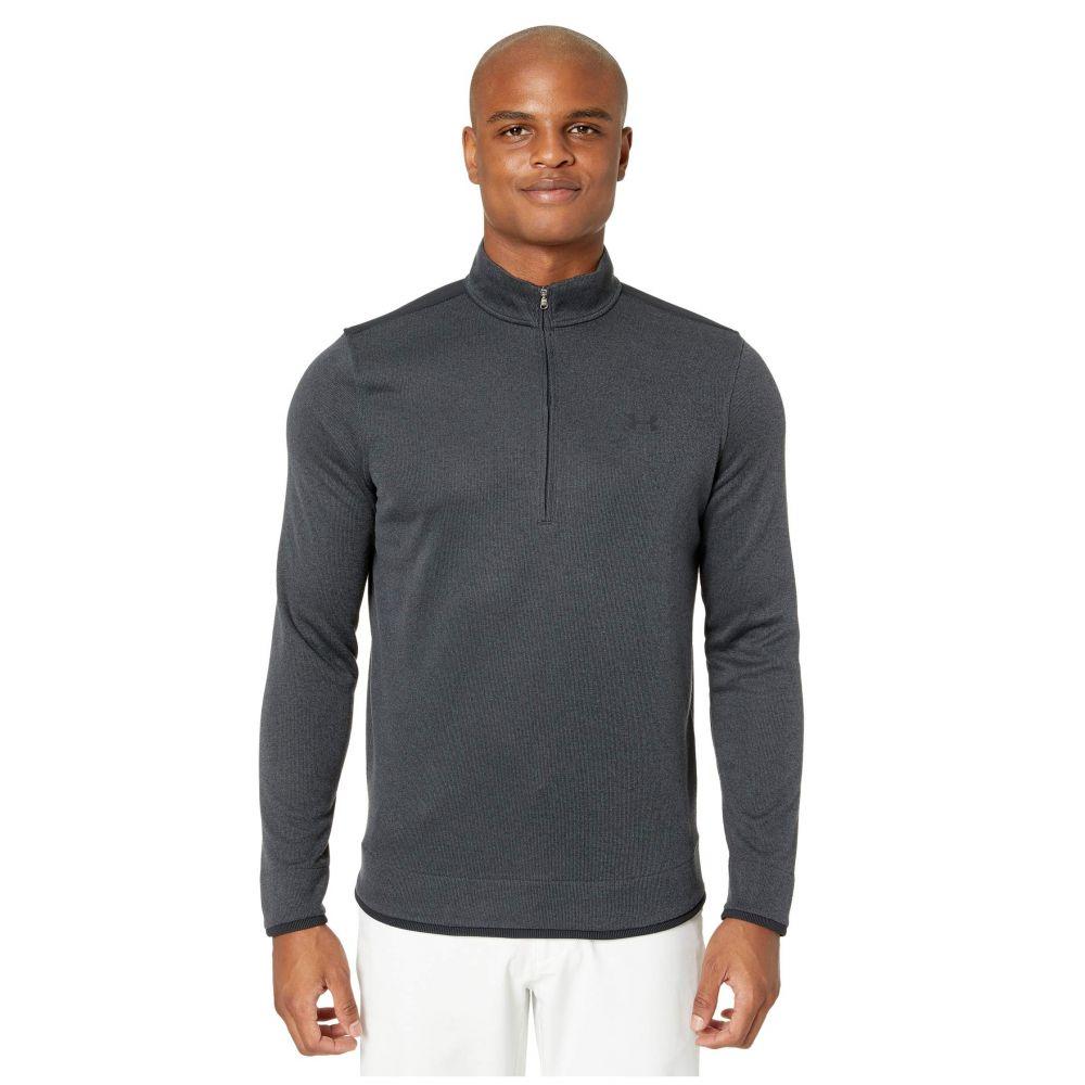 アンダーアーマー Under Armour Golf メンズ フリース ハーフジップ トップス【Sweater Fleece 1/2 Zip】Black/Black/Black