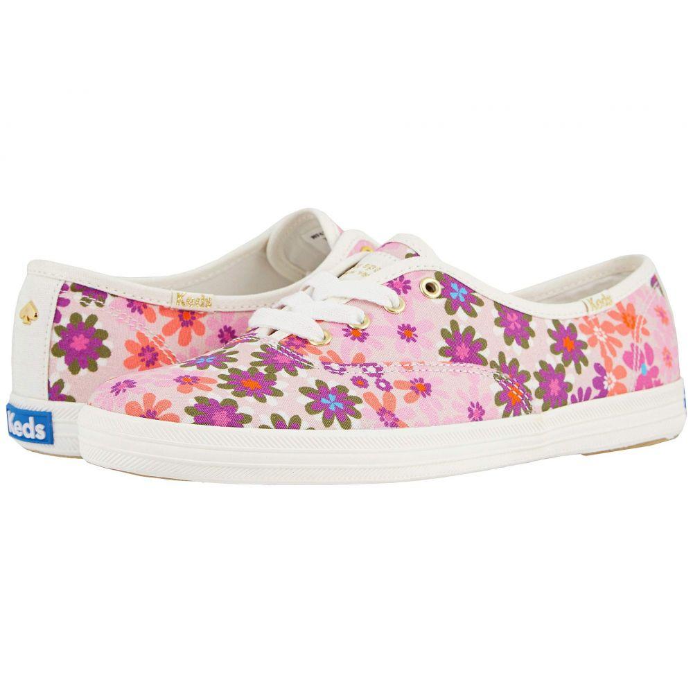 ケイト スペード Keds x kate spade new york レディース シューズ・靴 【Champion Pacific Petals】Pink Multi Printed Canvas