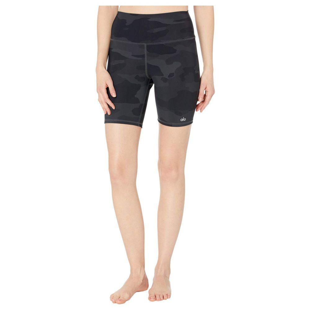 アロー ALO レディース ショートパンツ ボトムス・パンツ【High-Waist Vapor Shorts】Black Camouflage