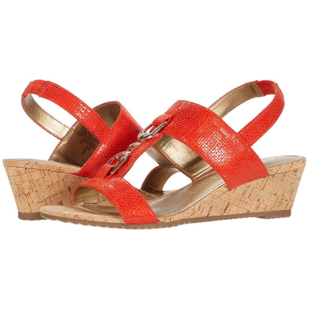 アン クライン Anne Klein レディース サンダル・ミュール ウェッジソール シューズ・靴【Varek Wedge Sandal】Orange