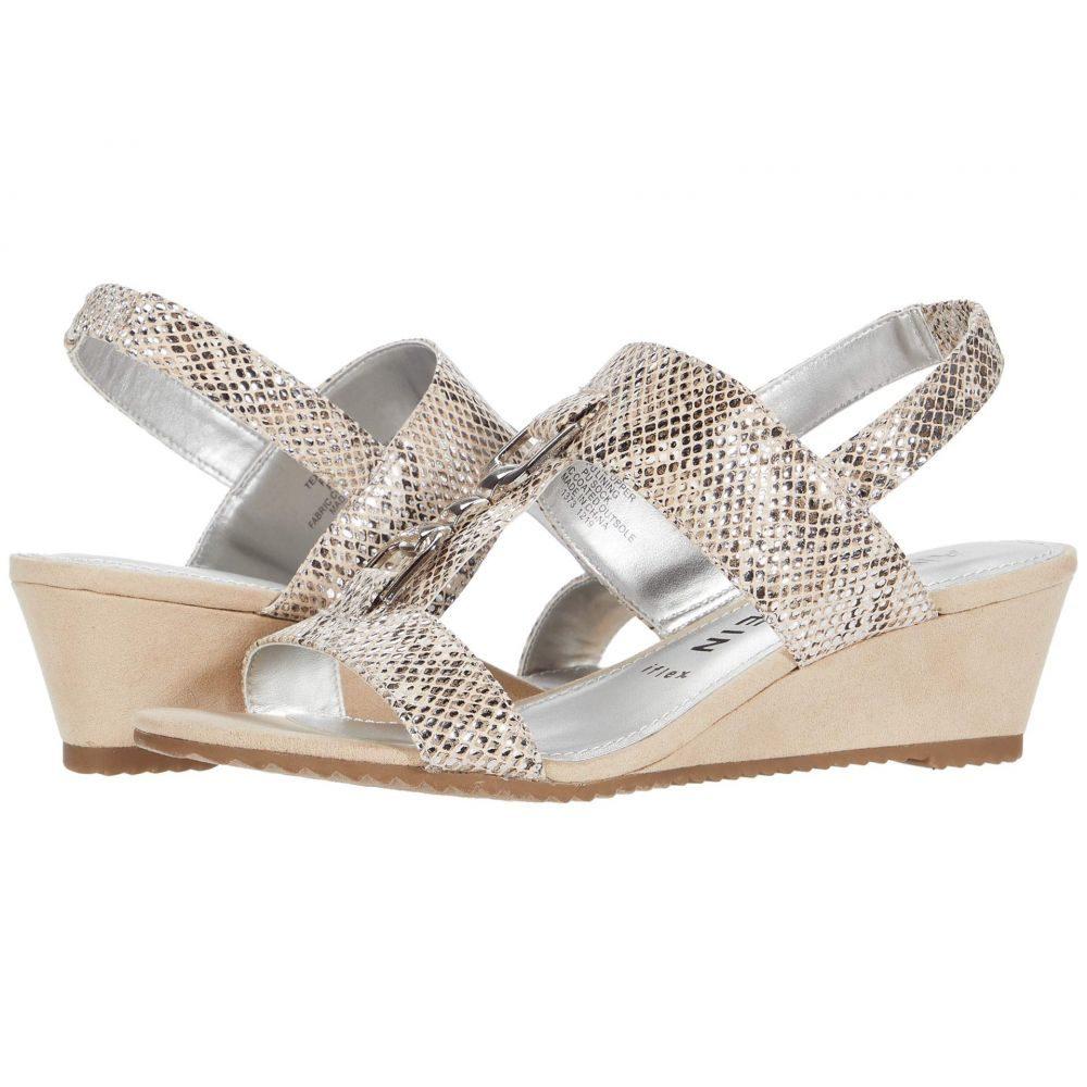アン クライン Anne Klein レディース サンダル・ミュール ウェッジソール シューズ・靴【Varek Wedge Sandal】Silver