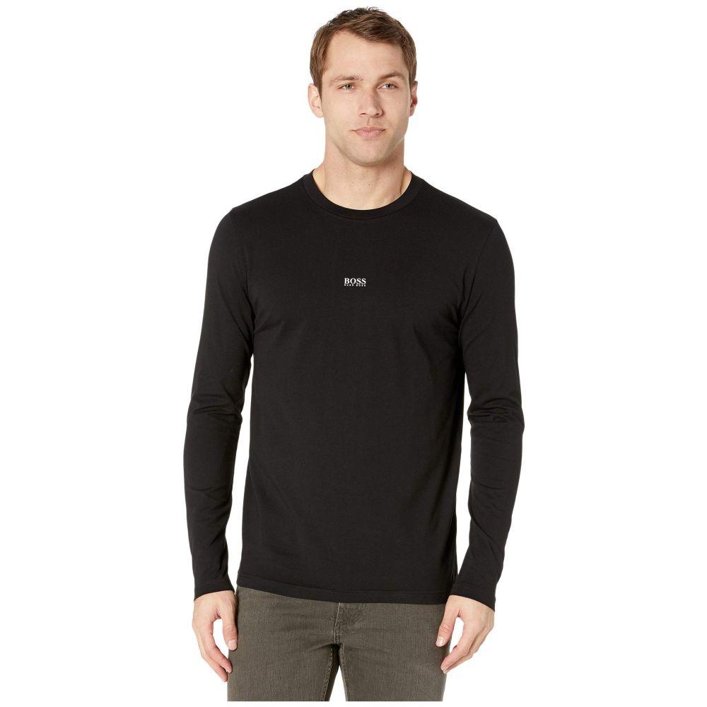 ヒューゴ ボス BOSS Hugo Boss メンズ 長袖Tシャツ ロゴTシャツ トップス【Tchark Middle Logo Long Sleeve Tee】Black