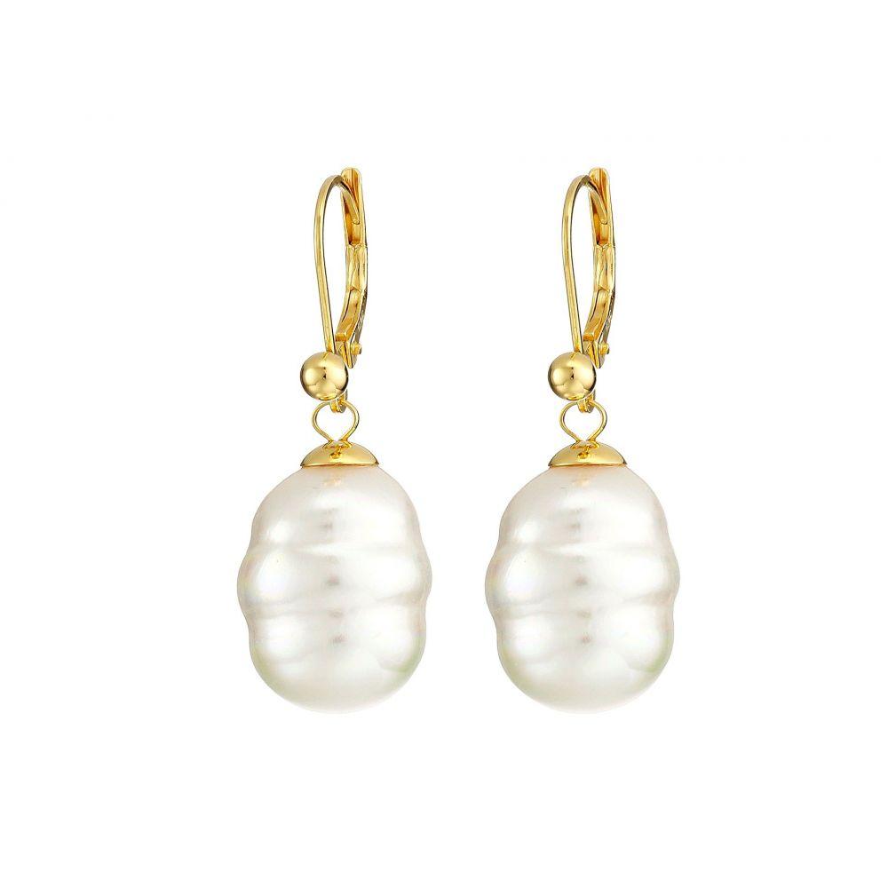 マジョリカ Majorica レディース イヤリング・ピアス ドロップピアス ジュエリー・アクセサリー【12mm Baroque Pearl Drop Earrings】White