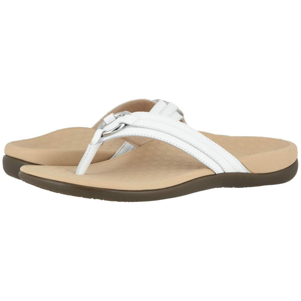 バイオニック VIONIC レディース ビーチサンダル シューズ・靴【Aloe Leather】White