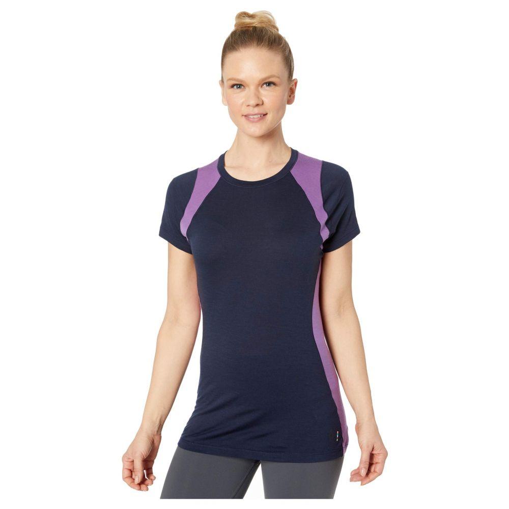 スマートウール Smartwool レディース Tシャツ ベースレイヤー トップス【Merino 150 Base Layer Color Block Short Sleeve】Deep Navy