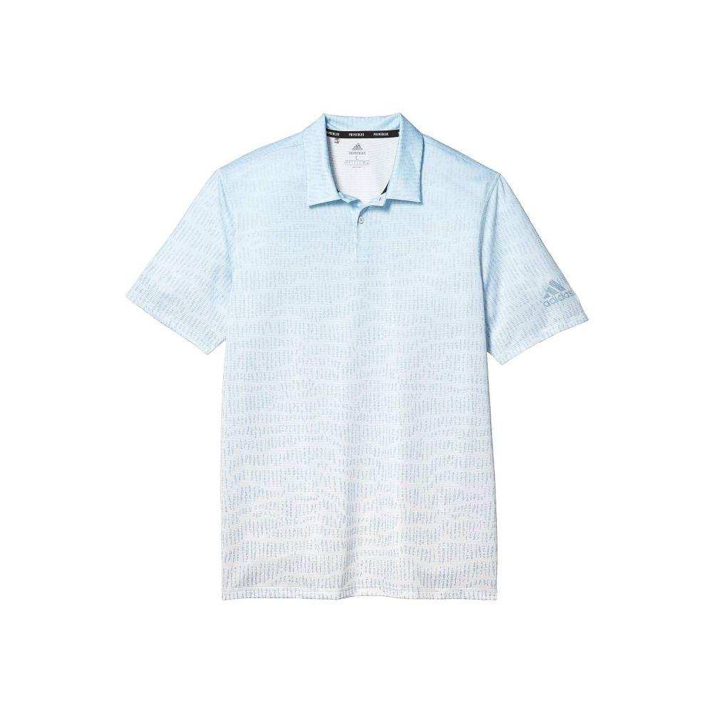 アディダス adidas Golf メンズ ポロシャツ トップス【Primeblue Block Polo Shirt】Easy Blue