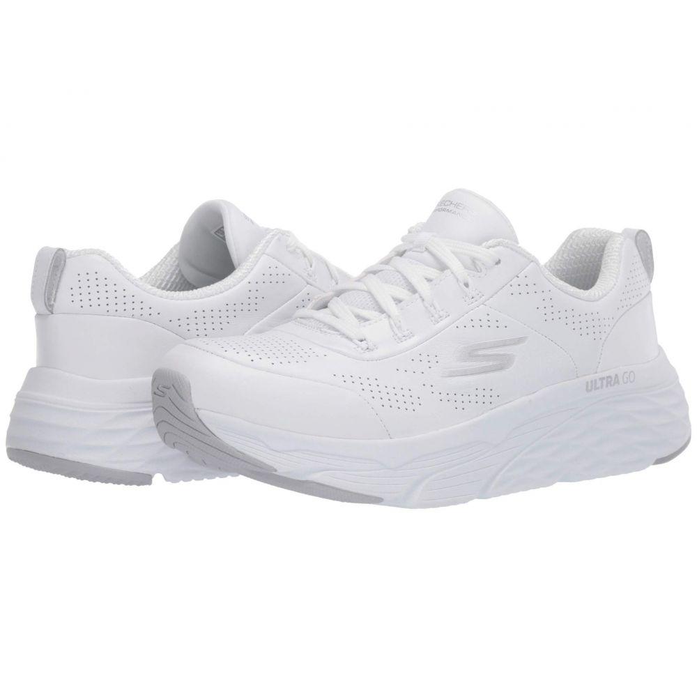 スケッチャーズ SKECHERS レディース ランニング・ウォーキング シューズ・靴【Max Cushioning Elite - Step Up】White/Silver