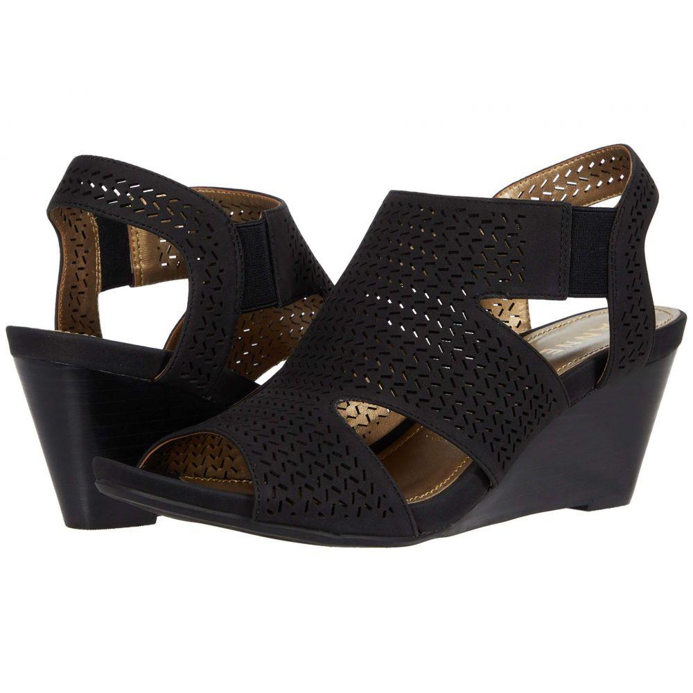 アン クライン Anne Klein レディース サンダル・ミュール ウェッジソール シューズ・靴【Sade Wedge Sandal】Black
