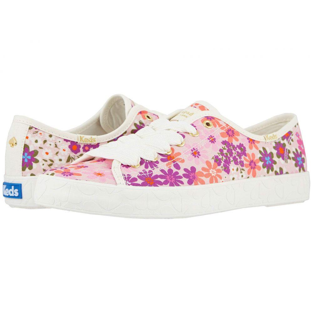 ケイト スペード Keds x kate spade new york レディース スニーカー シューズ・靴【Kickstart Logo Pacific Petals】Pink Multi Printed Canvas
