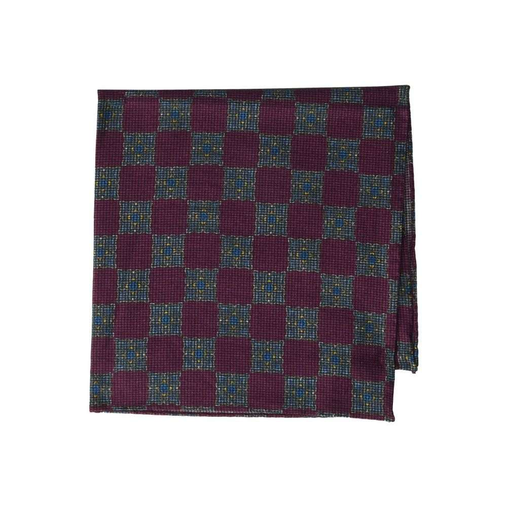 イートン Eton メンズ ハンカチ・チーフ 【Tight Medallion Pocket Square】Purple
