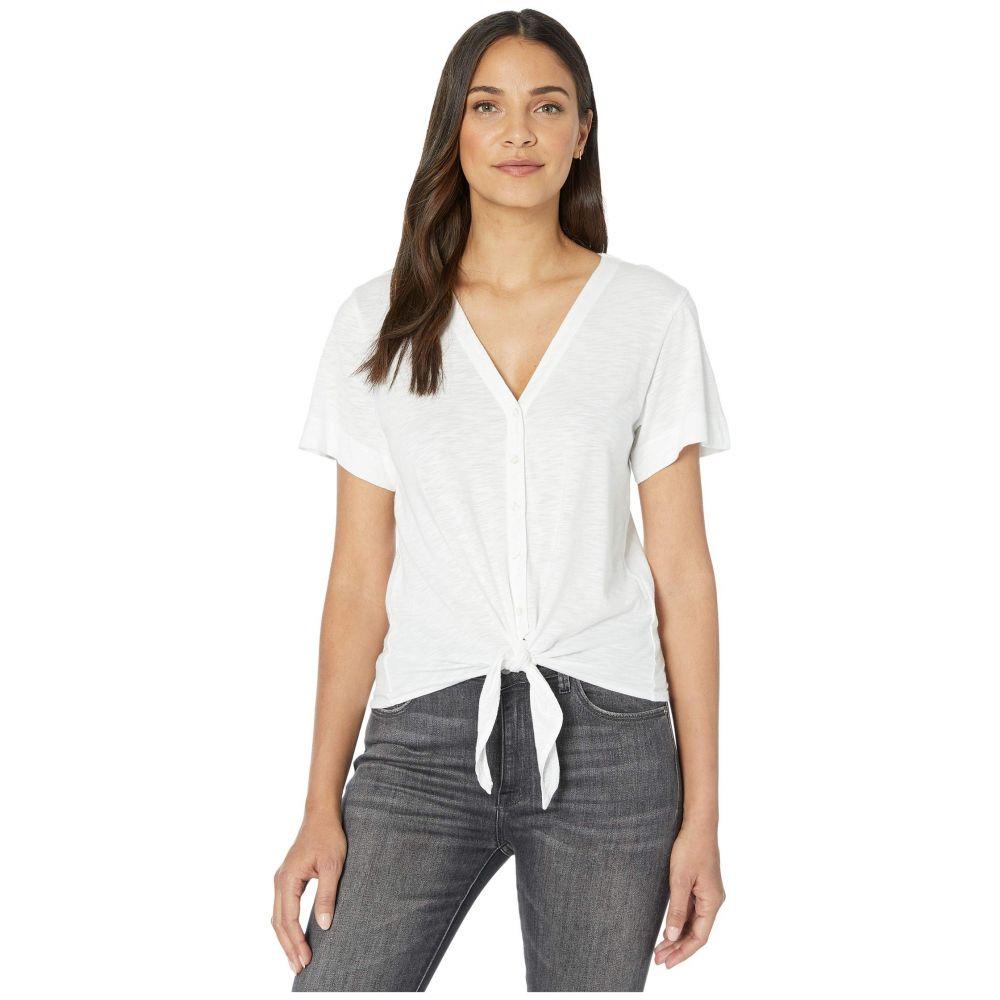 リラピー Lilla P レディース Tシャツ トップス【Short Sleeve Tie Front Tee in Flame Modal】White