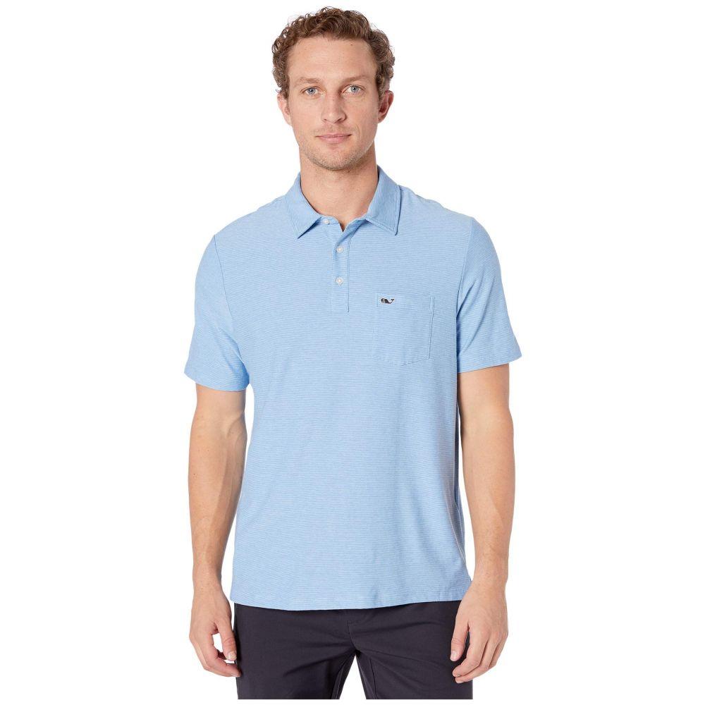 ヴィニヤードヴァインズ Vineyard Vines メンズ ポロシャツ トップス【Seawall Edgartown Polo】Jake Blue