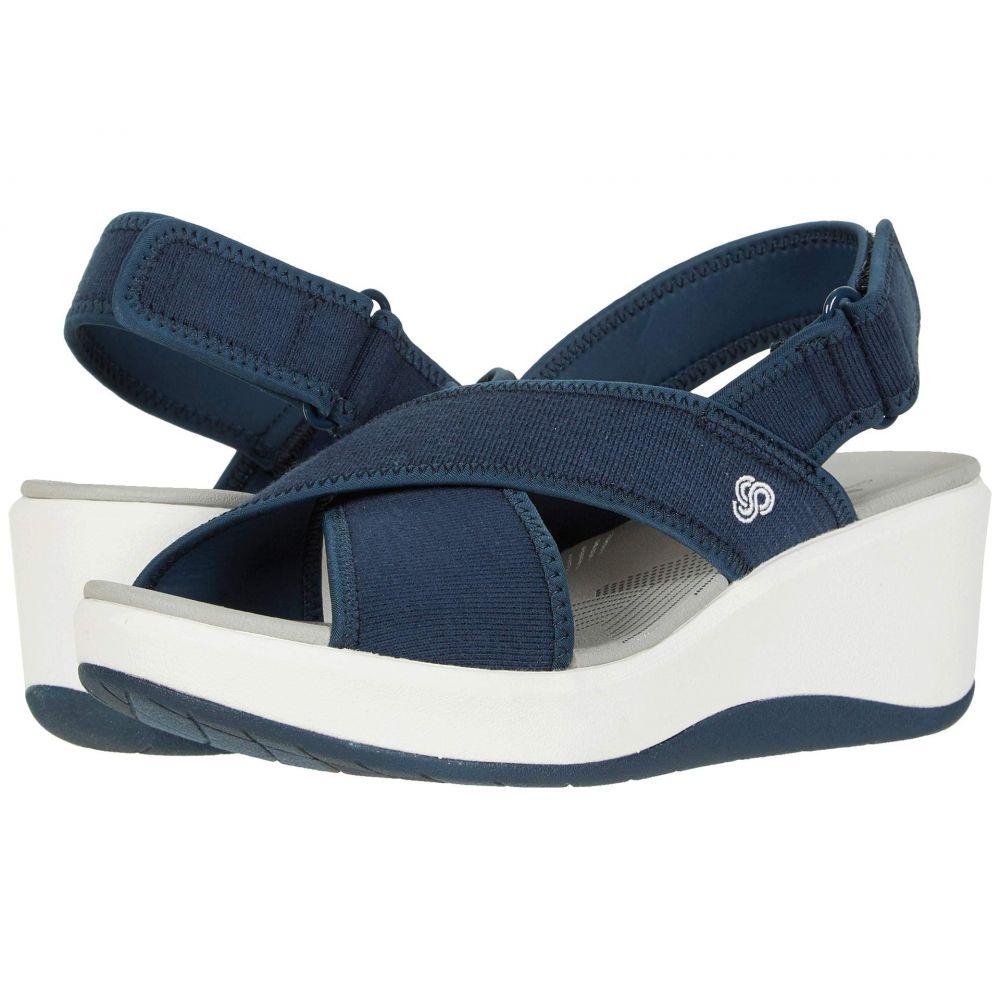 クラークス Clarks レディース サンダル・ミュール シューズ・靴【Step Cali Cove】Navy Textile