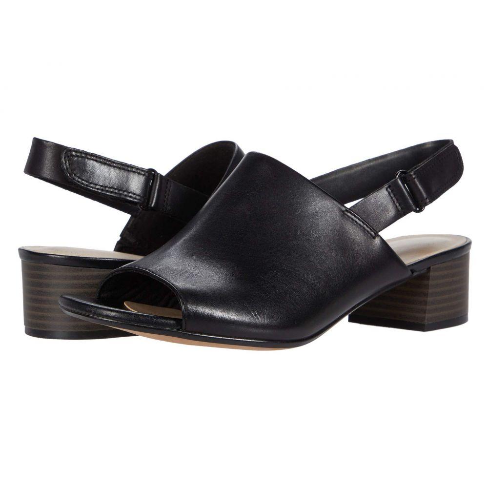 クラークス Clarks レディース サンダル・ミュール シューズ・靴【Elisa Lyndsey】Black Leather
