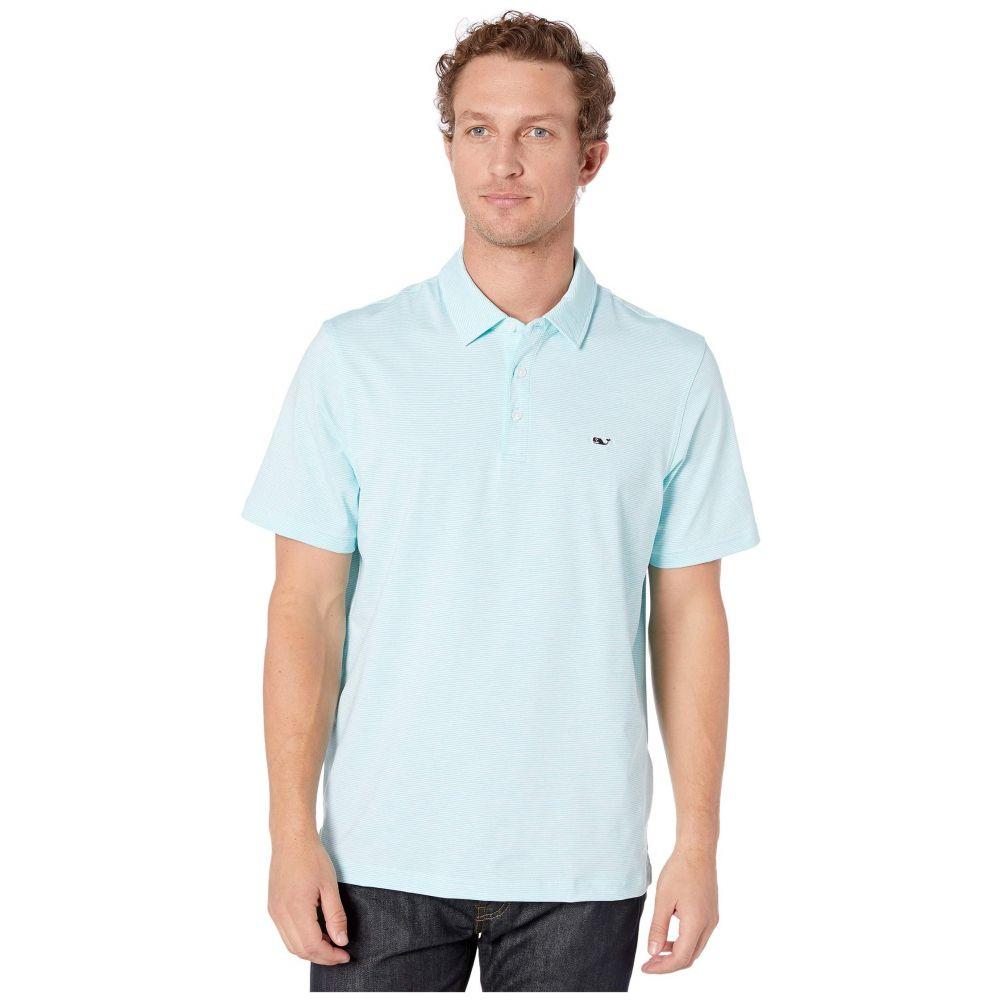 ヴィニヤードヴァインズ Vineyard Vines メンズ ポロシャツ トップス【Destin Stripe Sankaty Polo】White/Flat