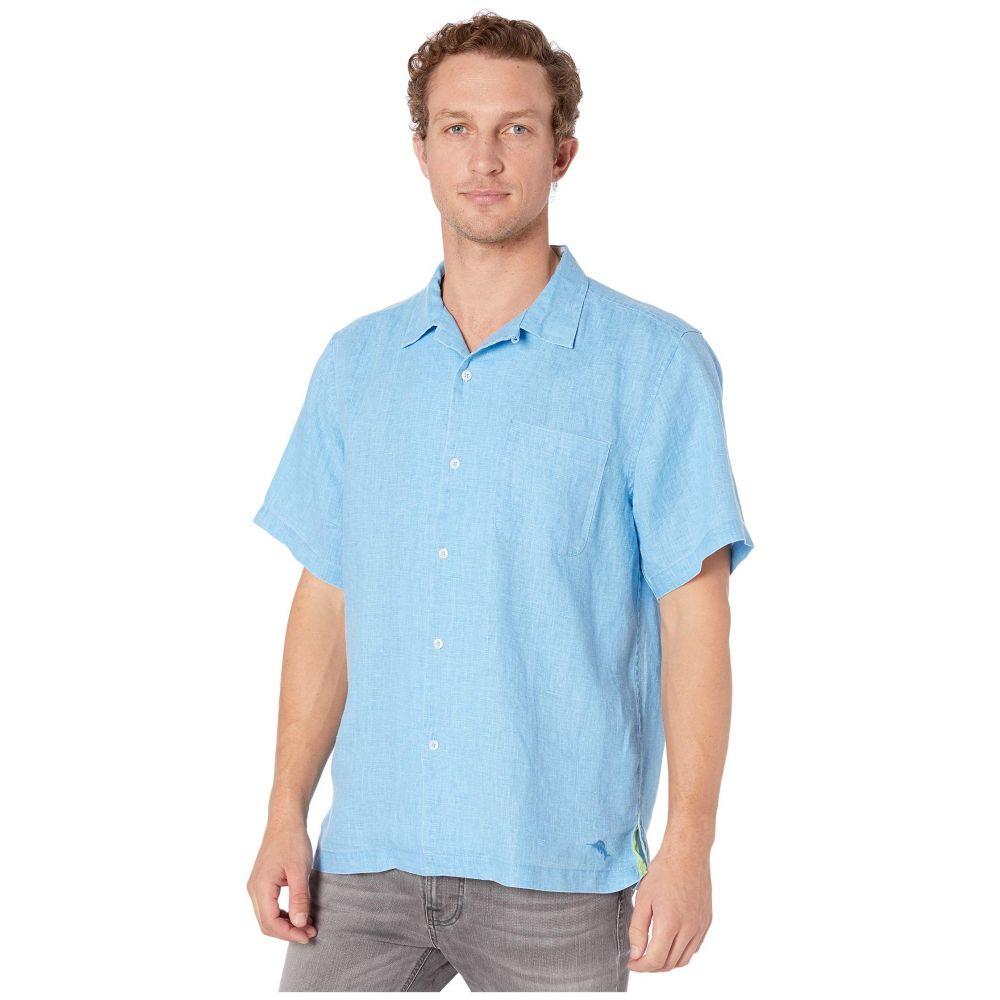 トミー バハマ Tommy Bahama メンズ シャツ トップス【Sea Glass Camp Shirt】Blue Yonder