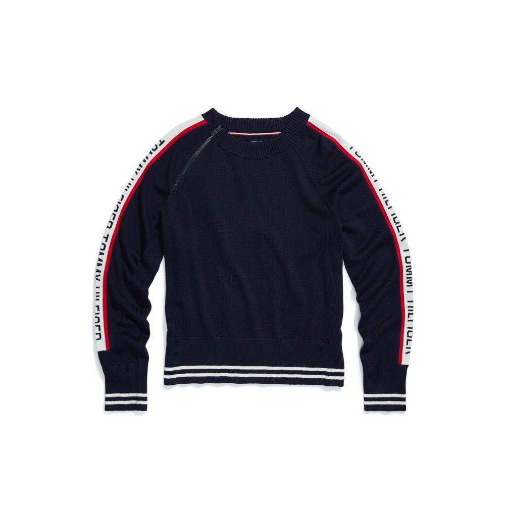 トミー ヒルフィガー Tommy Hilfiger Adaptive レディース ニット・セーター トップス【Logo Crew Neck Sweater】Masters Navy/Multi