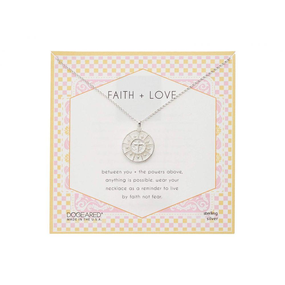 ドギャード Dogeared レディース ネックレス ジュエリー・アクセサリー【Faith & Love Cross Medallion Necklace】Sterling Silver