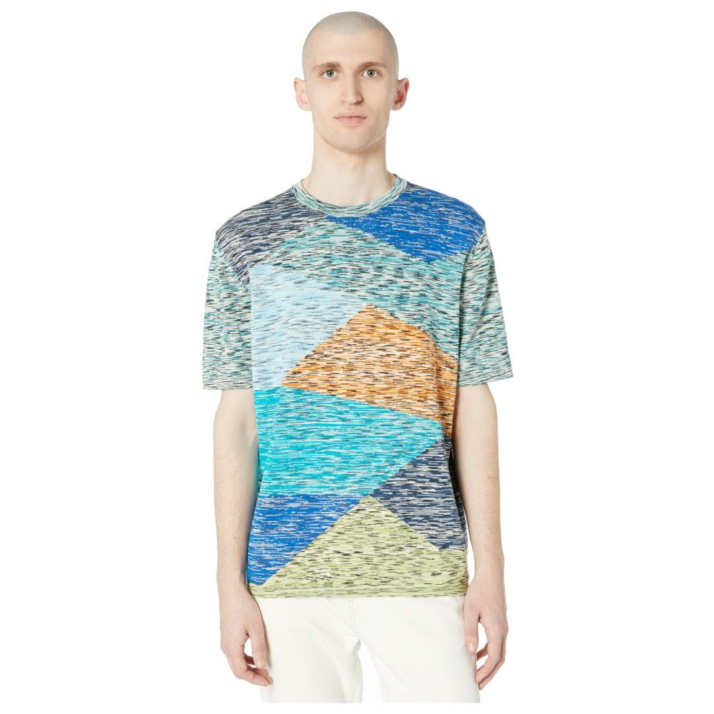 ミッソーニ Missoni メンズ Tシャツ トップス【Camo Instarsia Knit T-Shirt】Blue Multi