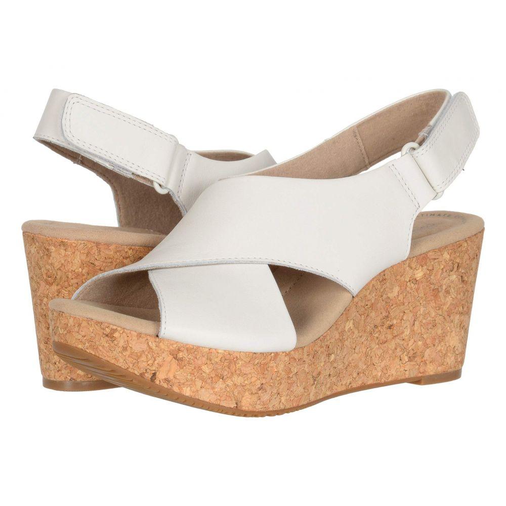 クラークス Clarks レディース ヒール シューズ・靴【Annadel Parker】White Leather