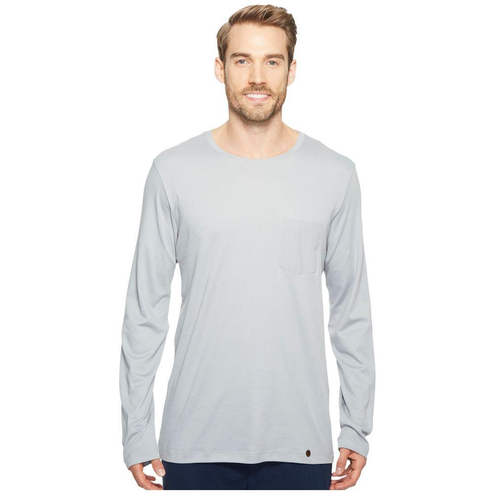 ハンロ Hanro メンズ 長袖Tシャツ トップス【Night and Day Long Sleeve Shirt】Mineral