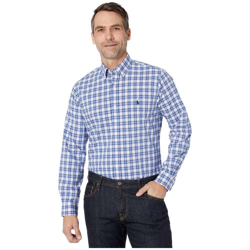 ラルフ ローレン Polo Ralph Lauren メンズ シャツ トップス【Classic Fit Poplin Shirt】White/Navy Multi
