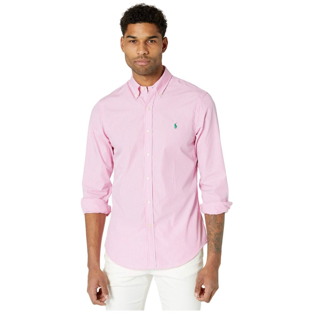 ラルフ ローレン Polo Ralph Lauren メンズ シャツ トップス【Slim Fit Poplin Shirt】Pink/White