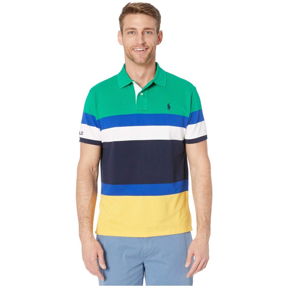 ラルフ ローレン Polo Ralph Lauren メンズ ポロシャツ トップス【Custom Slim Fit Mesh Polo】Green Multi