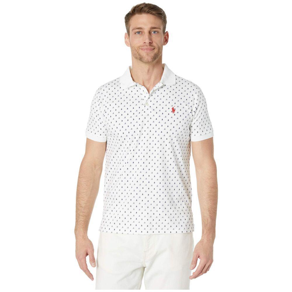 ラルフ ローレン Polo Ralph Lauren メンズ ポロシャツ トップス【Custom Slim Fit Soft Touch Polo】White Multi