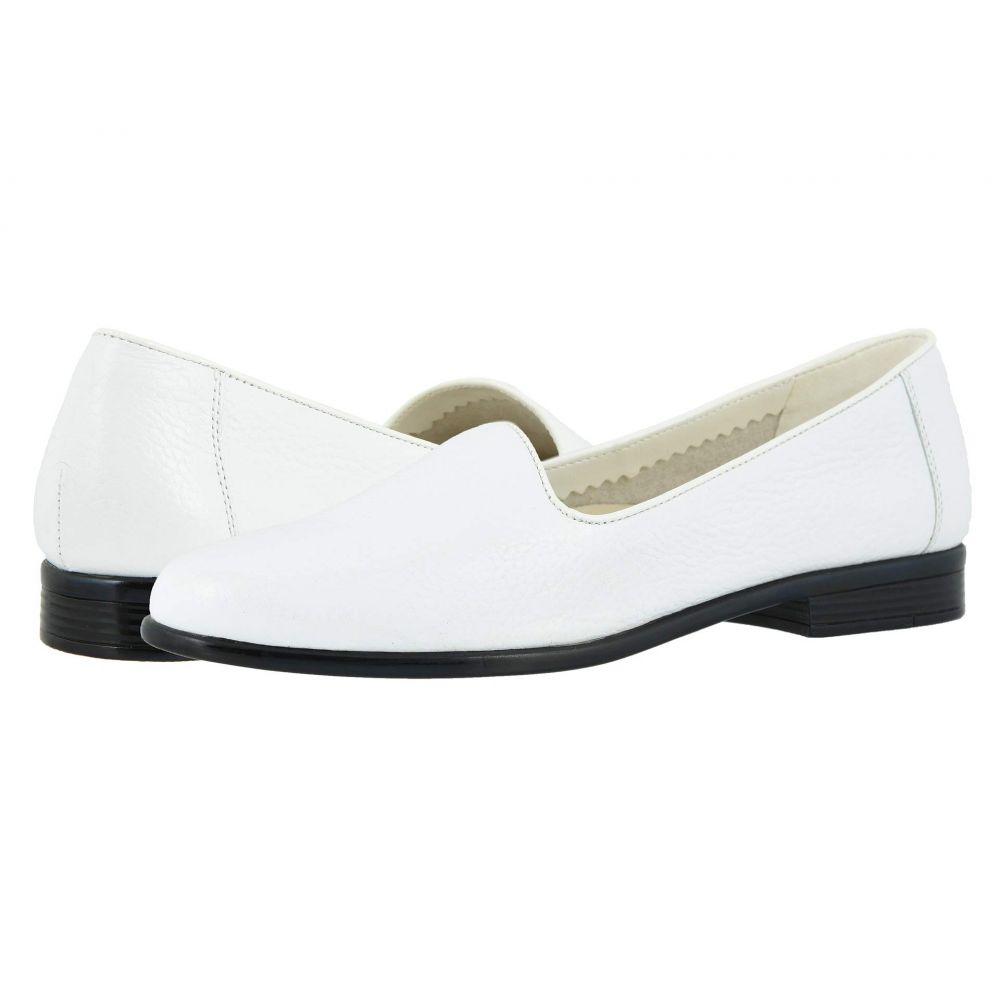 トロッターズ Trotters レディース ローファー・オックスフォード シューズ・靴【Liz Tumbled】White