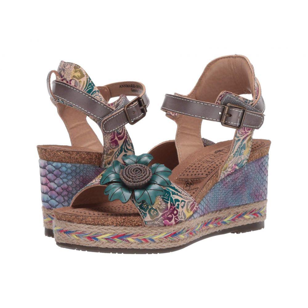 スプリングステップ L'Artiste by Spring Step レディース ヒール シューズ・靴【Annmarie】Grey Multi