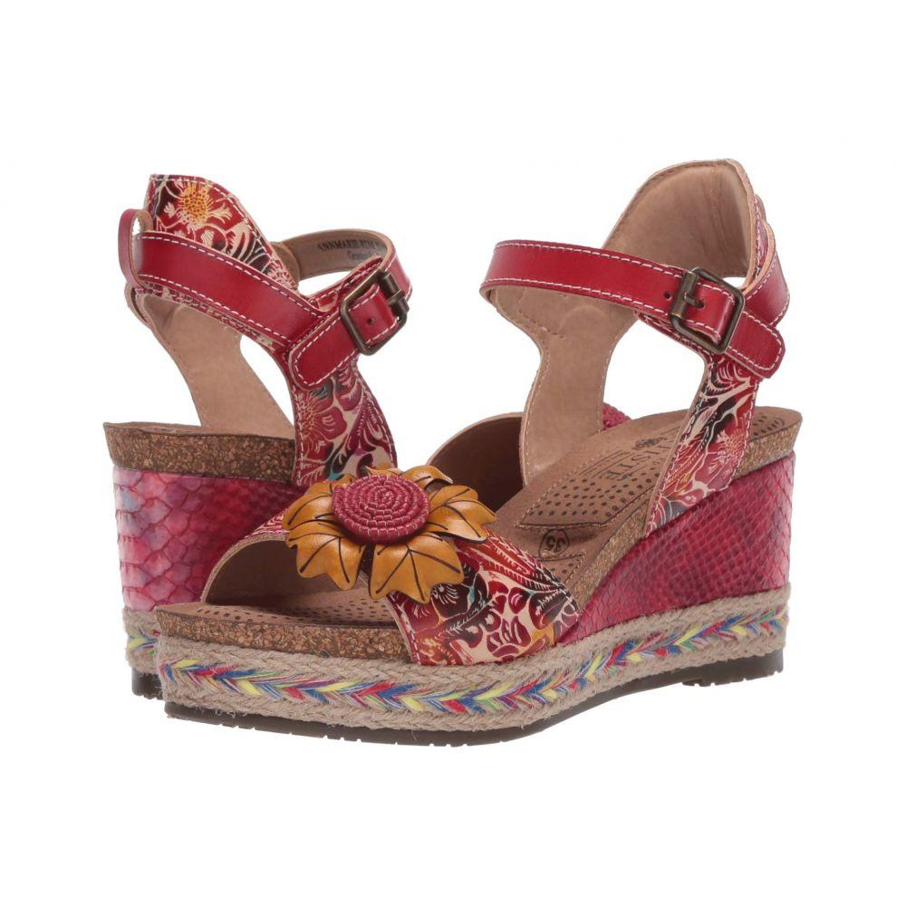 スプリングステップ L'Artiste by Spring Step レディース ヒール シューズ・靴【Annmarie】Red Multi