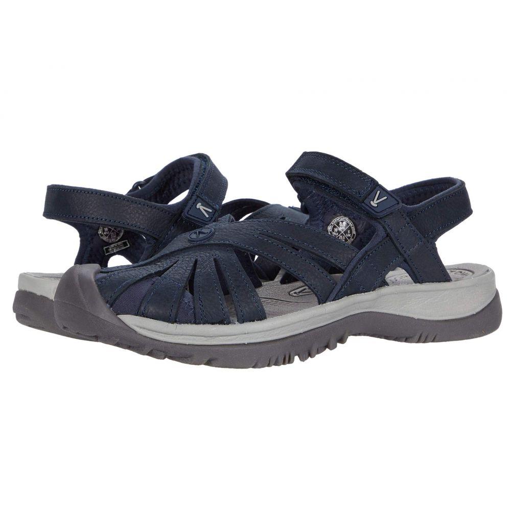 キーン Keen レディース サンダル・ミュール シューズ・靴【Rose Sandal Leather】Navy
