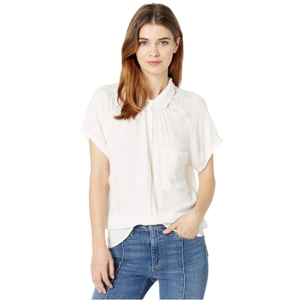 ボビ ロサンゼルス bobi Los Angeles レディース ブラウス・シャツ ラグラン トップス【Raglan Button-Up Shirt in Rayon Crepe】Ivory